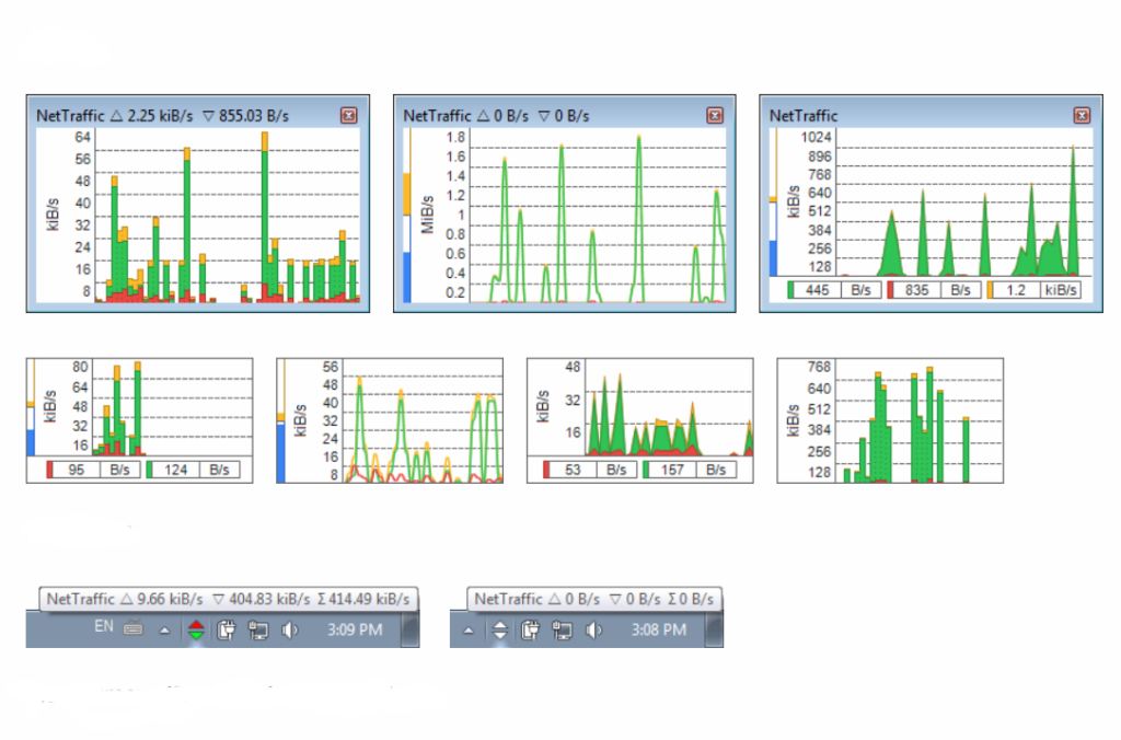 Скриншот, программа NetTraffic