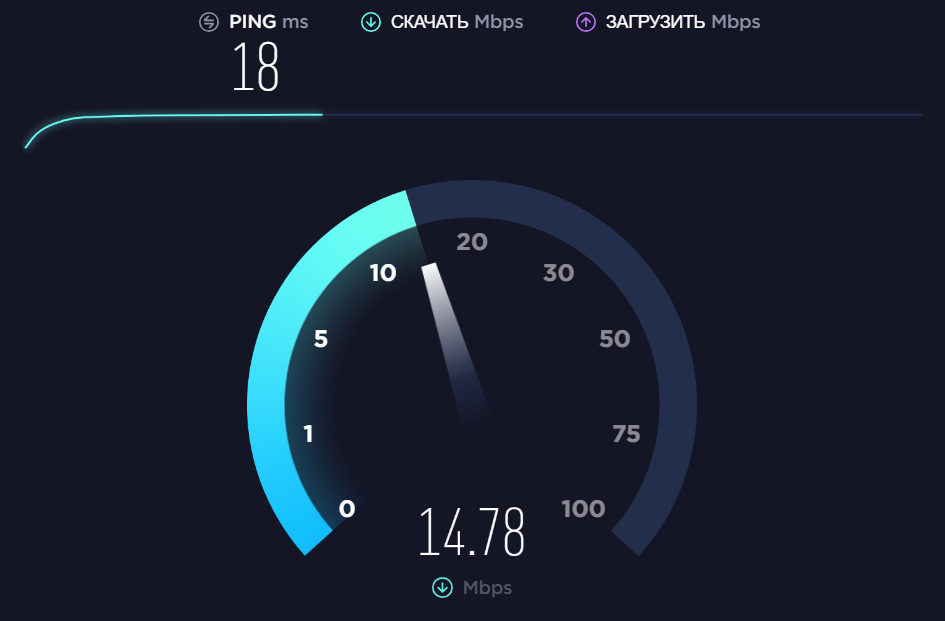 Скриншот, ресурс SpeedTest