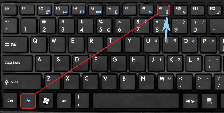 Fn + Bluetooth