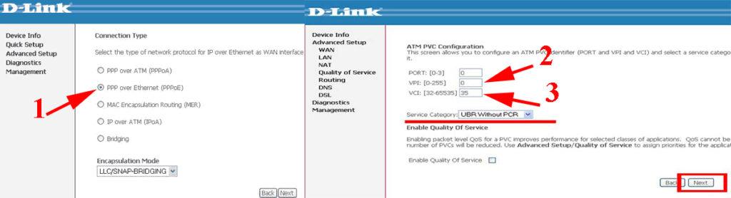 Настройка ADSL