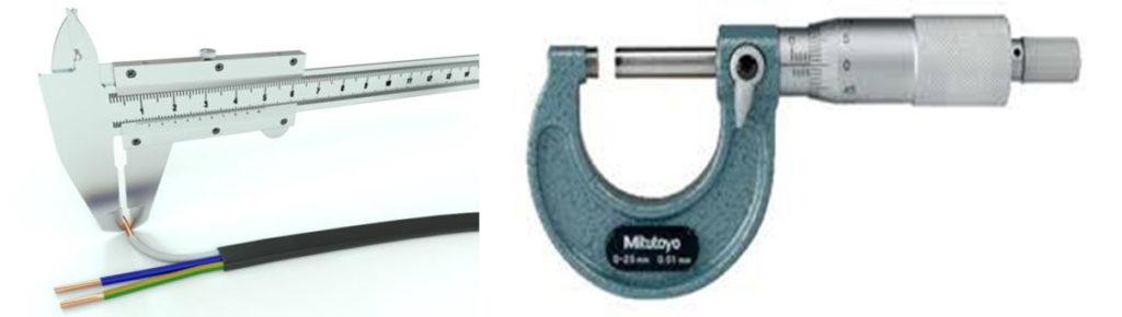 Измеряем толщину витой пары штангенциркулем или микрометром