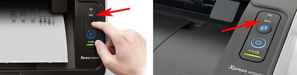 Находим кнопку WPS на принтере