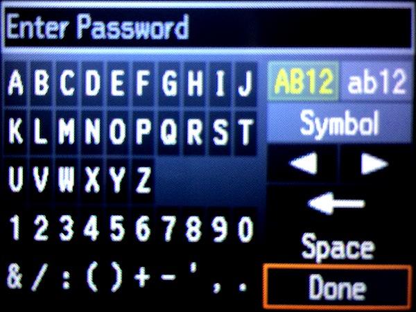 Вводим пароль и SSID