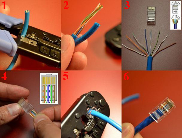 Обжим сетевого кабеля