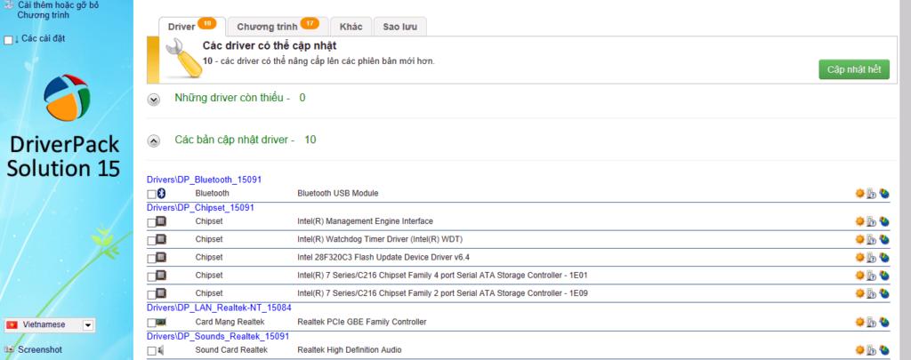 Приложение - DriverPack Solution для обновления драйверов