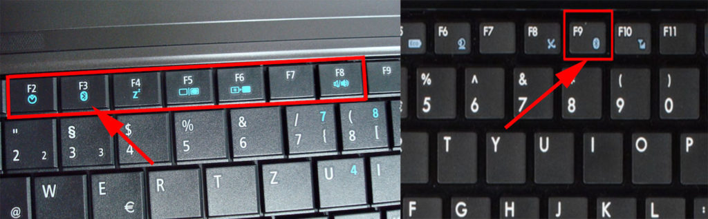 Кнопка блютуз на клавиатуре