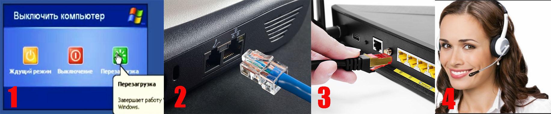 Действия по устранению поломки с отсутствием сетевого кабеля