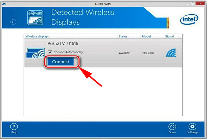 Программа Intel Wireless Display